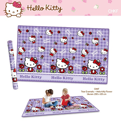 Matras Evamat Hello Kitty Ungu