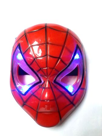 Topeng Spiderman with LED - Mainan Anak