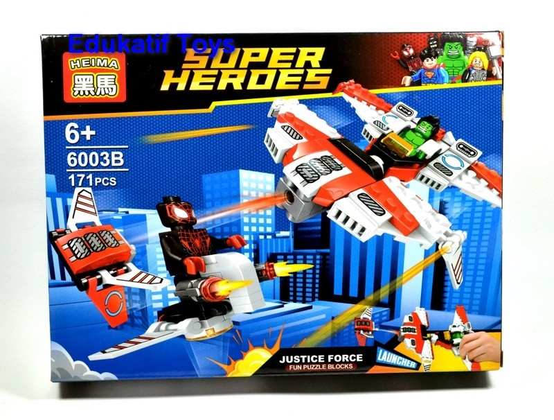 Block / Lego Superhero Set 2 in 1 Hulk dan Spiderman