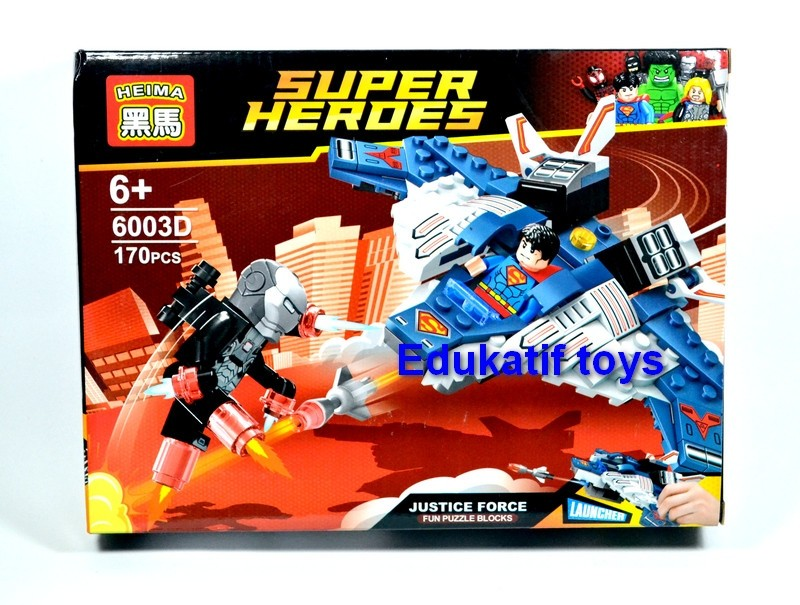 Block / Lego Superhero Set 2 in 1 Superman dan Ironman